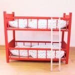 二段ベッド(赤50cm)