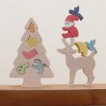 組み木のクリスマス