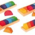 グリムス 色と形つみき(4種)