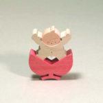 小黒三郎さん 小さな組み木の五月人形