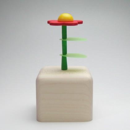 オルゴール・花