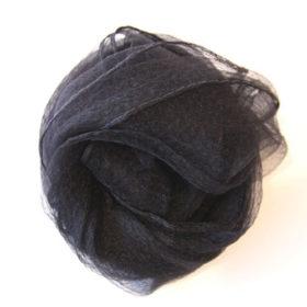 シフォンスカーフ・黒