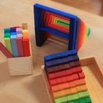 虹のカウンティングブロック+カラースティック