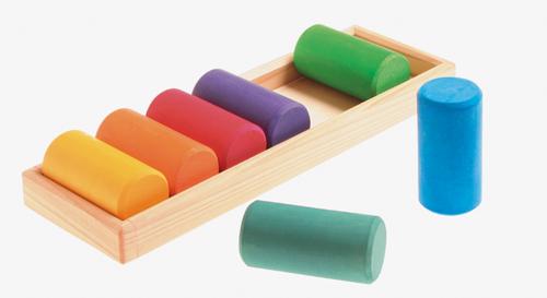 色と形の積み木5種