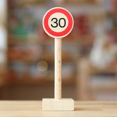 ベック社の道路標識 30km標識