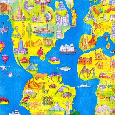【包装】世界地図(大型品対応)