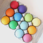 6色の木製ボール