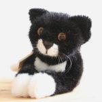 ケーセン ねそべり猫 黒(小)