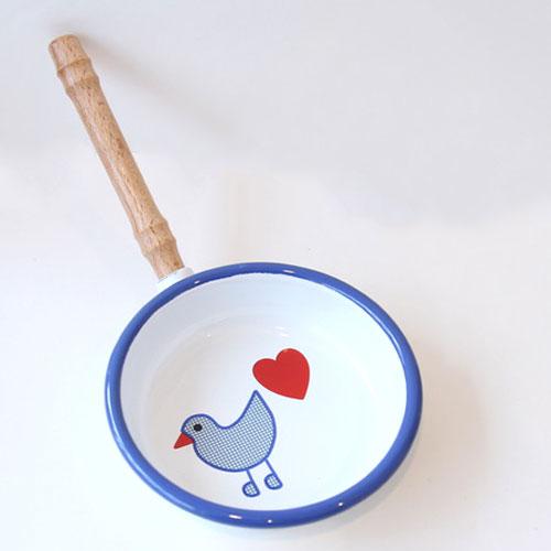 青い鳥 ホーローフライパン