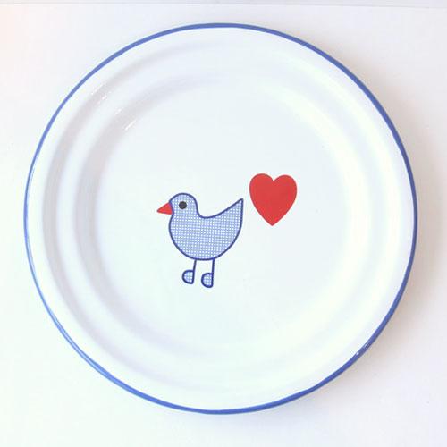 青い鳥 ホーロー お皿