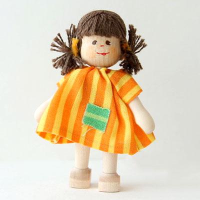 クレーブス人形 女の子 しまの服