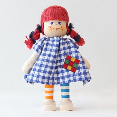 クレーブス人形 女の子しまのソックス