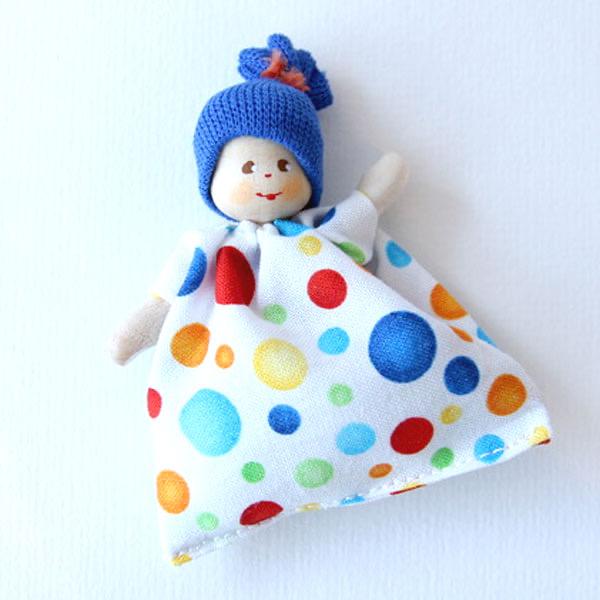 クレーブス 赤ちゃんブルー帽子