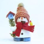 煙り出し人形  帽子とマフラーをした雪だるま