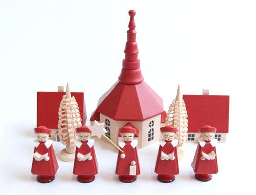 赤い聖歌隊と教会