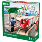 BRIO レール&ロード トラベルセット