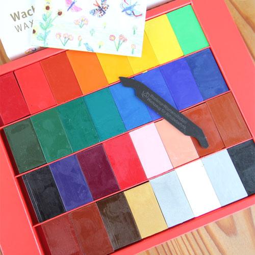 みつろうブロッククレヨン32色紙箱