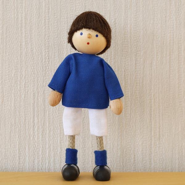 サッカー少年 青