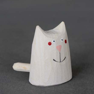Kočka malá - bílá 子ねこ・白