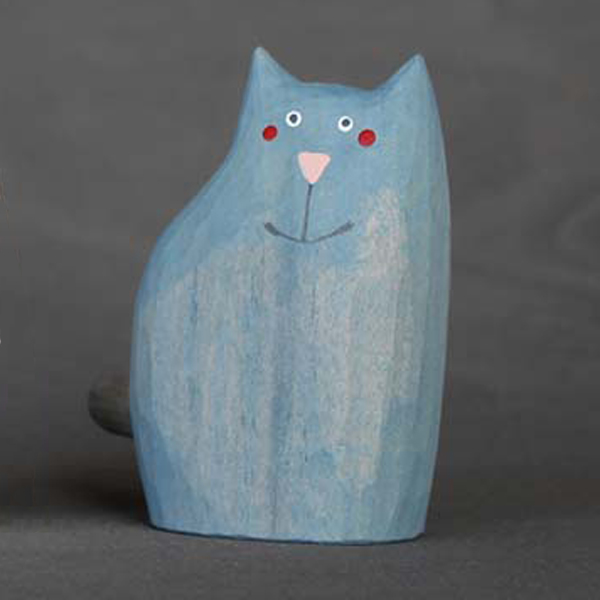 Kočka velká - modrošedá ねこ・ブルーグレー